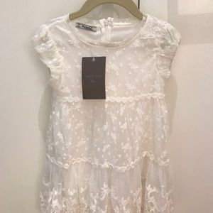 Mayoral white lace overlay dress